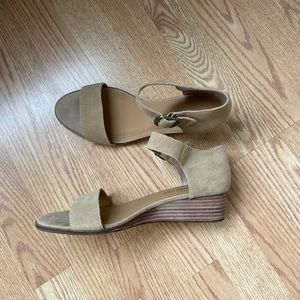Lucky Brand ankle strap wedge sandals